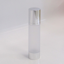 Frosted & Silver Chrome 100ml With Cap - Airless Serum Bottles