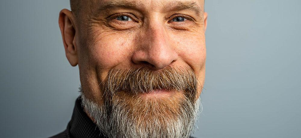 man with fine beard